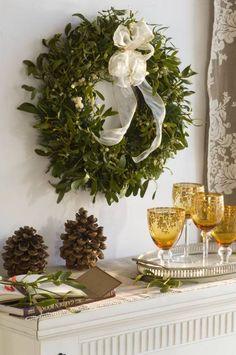 Świąteczny wieniec z jemioły - Jemioła - pomysły na stroiki i świąteczne dekoracje