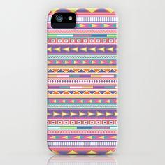 Geometric Pastel Pattern iPhone Case