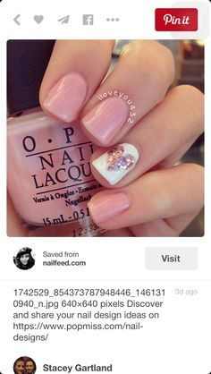 Inspiring Lovely Valentine Nail Art Design Ideas #nailart #nail #naildesign