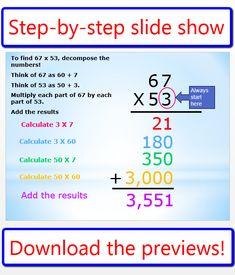 math worksheet : 1000 images about multiplication on pinterest  multiplication  : Partial Product Multiplication Worksheets