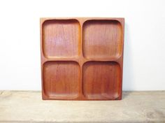 Just listed at ZenDenVintage! Boho MidCentury perfection!  Wood Tray / Boho Wood Tray / Hand Carved Tray / by ZenDenVintage