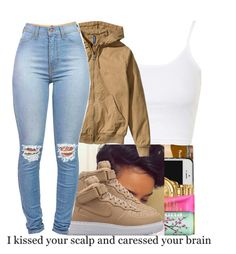 """Fucc School"" by jayy-glizzy ❤ liked on Polyvore featuring Topshop, H&M and NIKE"