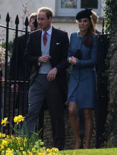 The Duke and Duchess of Cambridge attend the wedding of close friends, Lucy Meade and Charlie Budgett at St Mary's Church, Marshfield, Gloucestershire, 29.03.14