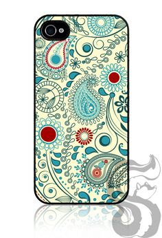 Didn't think choosing a new phone cover would be so hard.   Vintage Paisley by skunkwraps, $19.95