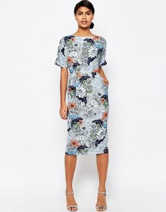 ASOS | ASOS Wallpaper Print Wiggle Dress