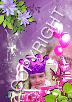 carte anniversaire pour petite fille ( personnalisée ou personnalisable ) Scrapbooking, Petite Fille, Scrapbooks, Memory Books, Scrapbook, Notebooks