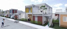 Innovative Affordable Housing Solutions From Brazil,Grupo 3 - Primeiro lugar. 30x50 House Plans, Brazil Houses, One Bedroom House, Low Cost Housing, Ceiling Plan, Two Story Homes, Affordable Housing, Story House, Facade House