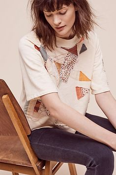 Cropped Quilter Pullover #anthropologie