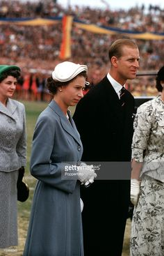 Royal Tour of Australia. Queen Elizabeth II and Prince Philip, the Duke of Edinburgh, are pictured at a childrens rally, Wayside Oval, Adelaide. Young Queen Elizabeth, Elizabeth Philip, Queen Hat, King Queen, Diana Spencer, Isabel Ii, British Royal Families, Her Majesty The Queen, Queen Elizabeth