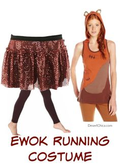 Ultimate List of Star Wars Running Costume Ideas - Ideas of Star Wars Outfits - Ewok Running Costume Idea. So fun for the Star Wars half. Halloween Running Costumes, Run Disney Costumes, Couple Halloween Costumes For Adults, Star Wars Costumes, Couple Costumes, Adult Costumes, Adult Mickey Mouse Costume, Frozen Costume Adult, Disney Races