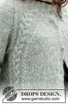 Vogue Knitting, Free Knitting, Ladies Cardigan Knitting Patterns, Winter Knitting Patterns, Knit Cardigan Pattern, Drops Design, Magazine Drops, Drops Patterns, Knit Crochet