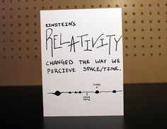 Einstein's Relativity Birthday Card - Great for the science nerd in your life.