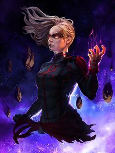 """""""Dark Captain Marvel based on design. Captain Marvel News, Captain Marvel Carol Danvers, Ms Marvel, Marvel Concept Art, Bizarre Art, Marvel Comics Art, Power Girl, Marvel Universe, Comic Art"""