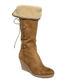 Impo Shoes, Winsor Wedge Boots in Toffee