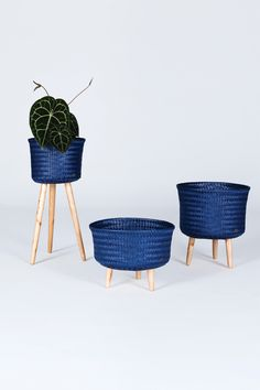 Handed By / Livingroom / Basket / Up collection / Dark Blue