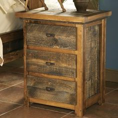 Mountain Woods Furniture® Wyoming Collection™ 3-Drawer Nightstand at Cabela's