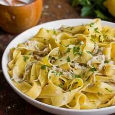 Easy Creamy Braised Chicken with Pappardelle is a go-to dinner option. Made with tender chicken thighs.