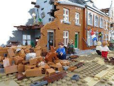 the liberation - Animationsideen Lego Ww2, Lego Army, Lego Zombies, Apocalypse, Lego Pictures, Lego Boards, Lego Mecha, Cool Lego Creations, Lego Architecture