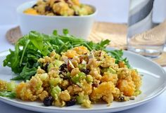 Curried Chickpea, Mango & Quinoa Salad: - Coconut and Berries Healthy Eating Recipes, Vegetarian Recipes, Cooking Recipes, Healthy Food, Vegetarian Cooking, Meal Recipes, What's Cooking, Healthy Meals, Delicious Recipes