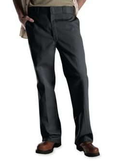 Dickies Charcoal Classic Fit Original 874174  Work Flat Front Non-Iron Pants