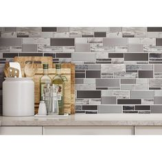 Backsplash Beautiful Kitchen Backsplash Glass Mosaic Tile Mosaic Tile Outlet Types Of Wood Flooring Ceramic Mosaic Tile, Mosaic Wall Tiles, Mosaic Glass, Glass Tiles, Mosaics, Shower Backsplash, Mirror Backsplash, Backsplash With Dark Cabinets, Backsplash Ideas
