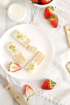 White Chocolate Pistachio Shortbreads by Kitchen McCabe