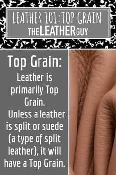 Top Grain is not a rating or a better quality leather. Leather Tooling, Leather Bag, Diy Furniture Upholstery, Leather Repair, Craft Projects, Craft Ideas, Leather Crafting, Leather Workshop, Knife Sheath