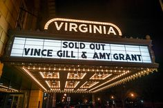 Vince Gill and Amy Grant at the Virginia Theatre