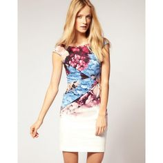 Idreammart Funky Ladies' Colorful Polyester Oil Printing V Back Folded Pencil Dress