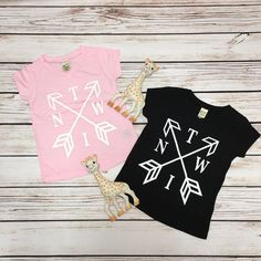 Twin Arrow - V-Neck,Twintastic, twins, twin sisters, twin brothers, identical twins, fraternal twins, twin clothes, twin store, twin shop, twin mom, twin mama, life with twins.
