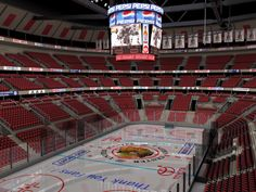Ice Hockey Rink | Complete ice hockey arena with tribunes, seats, rink, display, roof ...