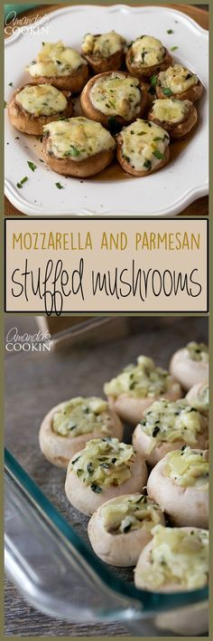 These Stuffed Mushrooms are so easy you could whip up a big tray of them in about 30 minutes before your guests arrive and have a delicious appetizer ready to go! stuffed_mushrooms_with_cream_cheese, bread crumbs Finger Food Appetizers, Yummy Appetizers, Appetizer Recipes, Heavy Appetizers, Mushroom Appetizers, Vegetable Appetizers, Chicken Appetizers, Tapas, Mushroom Dish