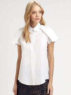 Carven - Winged Poplin Shirt.