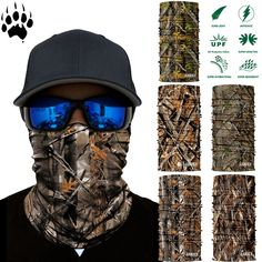 Stay protected from the elements and hidden with a camouflage face shield from Bushpro Outdoors Fishing Books, Fishing Tips, Fish Mask, Tree Patterns, Young Ones, Military Army, Airsoft, Bandana, Camouflage