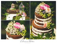 Adriana Watson Photography | Ginger Lily & Rose Floral Studio | Desert Table | Chocolate2Chilli naked cake