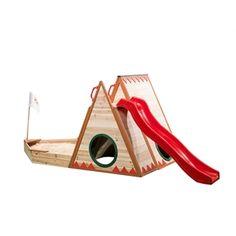 Swing Slide Climb Timber Teepee Cubby