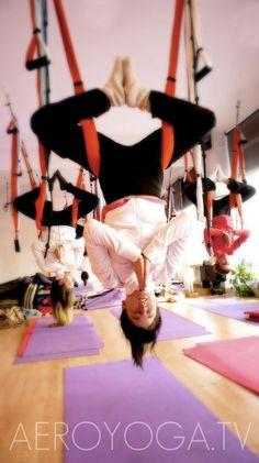 Aerial yoga México www.aerialyoga.tv