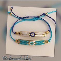 miyuki bracelet ▶ ️WhatsApp 0538 220 39 31 - My Recommendations Bead Loom Bracelets, Beaded Earrings, Beaded Jewelry, Jewelry Necklaces, Handmade Silver, Handmade Jewelry, Diy Jewelry, Bracelet Tutorial, Beaded Bracelets