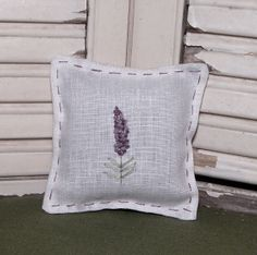 ATCTTeam - Holiday stocking stuffer special.....hand-embroidered sachet made from linen filled with dried lavender