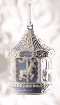 Wedgwood 2015 Baby's First Christmas Blue Carousel Ornament