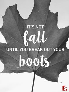 If you love shoes as much as we do, you know that fall isn't just about the changing colors of leaves and colder weather...it's about breaking out your boots and getting to wear all the styles you love!