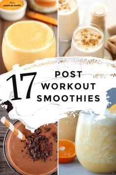 Pumpkin Protein Smoothie, High Protein Smoothies, Protein Smoothie Recipes, Healthy Cookie Recipes, Good Smoothies, Smoothie Packs, Smoothie Diet, Healthy Meals, Vegan Recipes