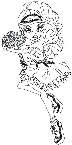 Spectra Vondergeist Ghoul Sports Monster High Coloring Page