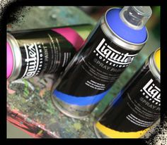 liquitex now makes spray paint. in AMAZING colors. can't wait to try it out.