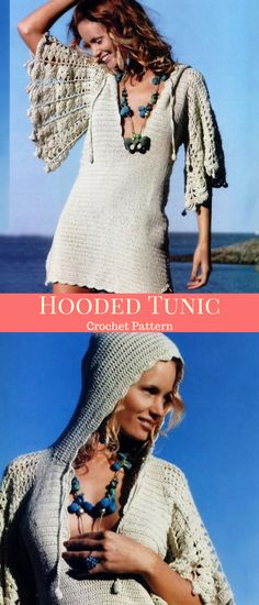 Relaxed Hooded Tunic Crochet Pattern #etsy #ad #tunic #crochet #Relax #fashion