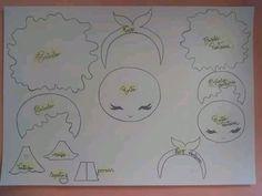 Bonequinha linda capa de caderno com molde para imprimir em Eva  - Como Fazer Felt Crafts, Diy And Crafts, Crafts For Kids, Paper Crafts, Painting Patterns, Preschool Crafts, Different Colors, Baby Shower Gifts, Arabesque