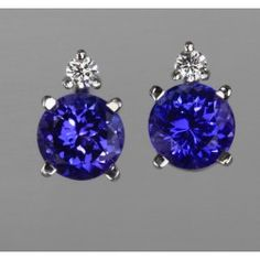 Classic and sophisticated Tanzanite Stud Earrings from Top Tanzanite is the perfect gift for your loved one. Engagement Jewelry, Studs, Stud Earrings, My Favorite Things, Gifts, Beautiful, Presents, Spikes, Stud Earring