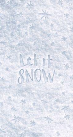 Let it snow - background for phones! ❄️⛄️ di E m e s e | We Heart It