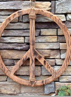 Peace Symbol Peace Sign Vintage Wall Art by Clevelandgirlie, $45.00