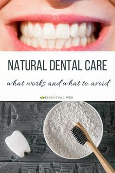 An aromatherapist and dental hygienist weighs in on how to care for your teeth naturally, and how to avoid natural dental recipes that may cause more harm than good. oral care care cleanses care for kids care kit care nursing care packaging Teeth Health, Healthy Teeth, Dental Health, Oral Health, Dental Care, Health Care, Dental Floss, Dental Hygienist, Dental Implants